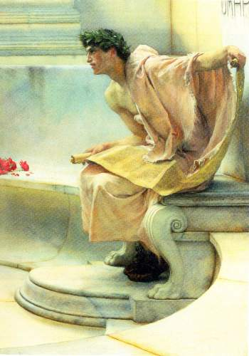 Alma-Tadema - A reading of Homer, detail [2]